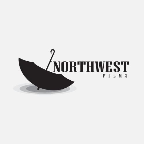 Create a minimal/vintage fusion logo for Northwest Films