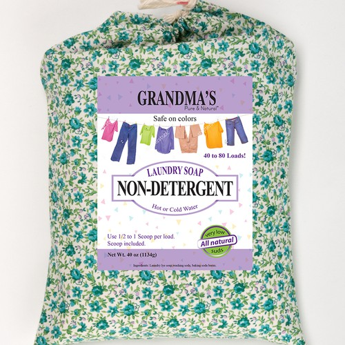 Design Eye-Catching Label for GRANDMA'S Non-detergent Laundry Soap