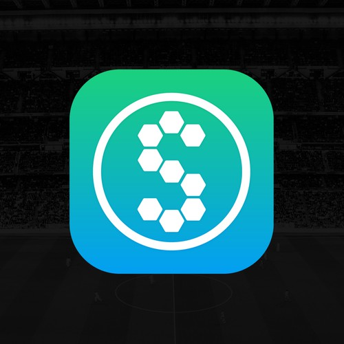 APP logo for soccer data mobile application