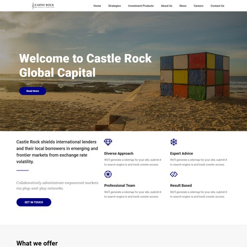 Hedge Fund firm website