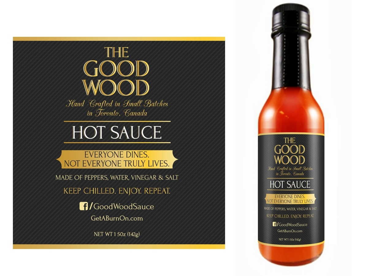 Bottle label for gourmet hot sauce -- a whole new approach to hot sauce marketing