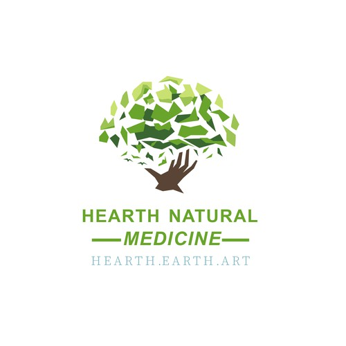 Tree logo in simple style