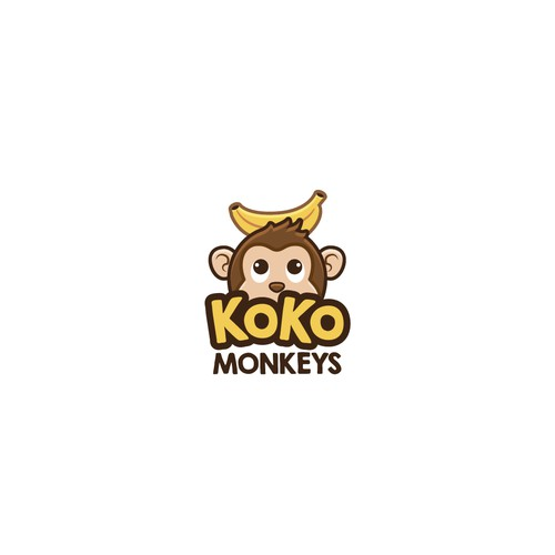 Cute monkey logo