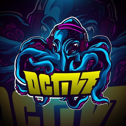 Octive - Octopus Mascot Logo