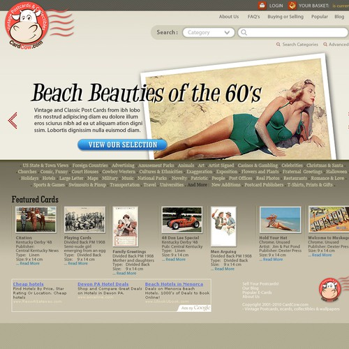 Postcard website Redesign