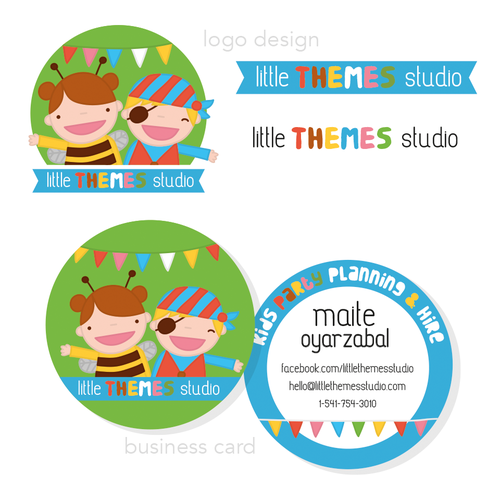 Fun illustrated  designs for themed kids party business.