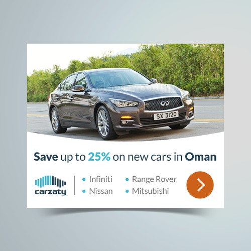 Banner ad design for Carzaty