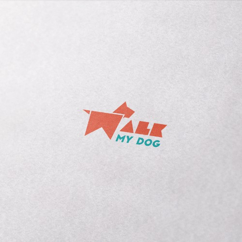 Modern, Minimalist Logo for WalkMyDog.com