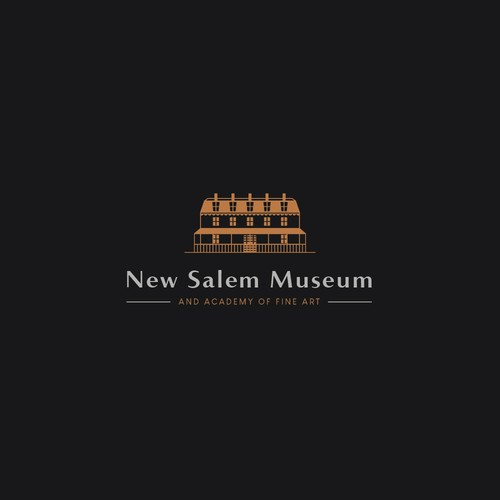 Classic and luxury logo for New Salem Museum