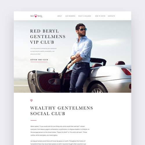 Red Beryl Luxury Website