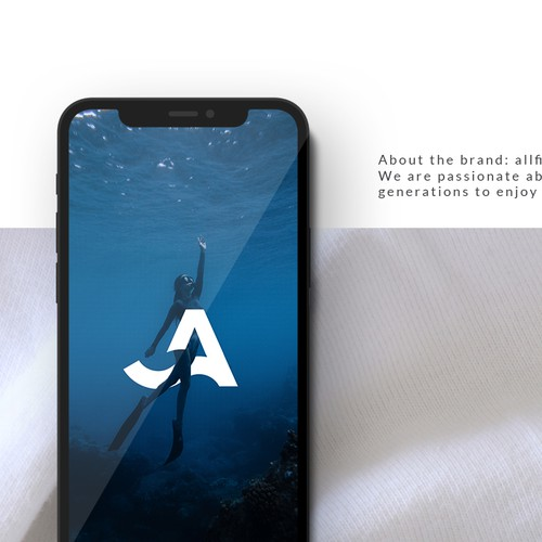Logo Design for Eco Friendly Clothing Company. About the brand: allfins is a brand making high quality and eco-friendly clothing for ocean lovers.