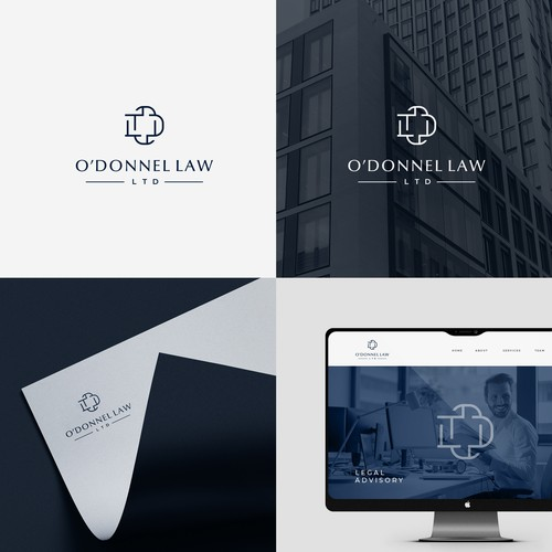 Logo concept for legal office.