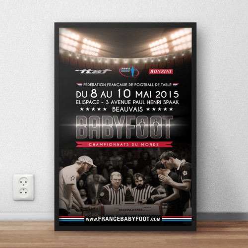 Poster for the world championship of table-soccer (foosball)