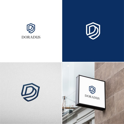 Letter D and Shield Logo