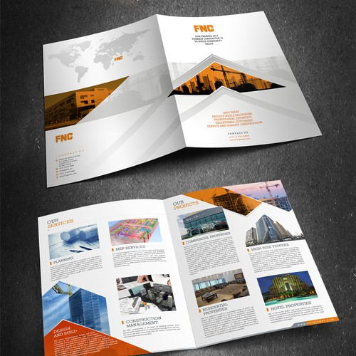 Brochure for Leading Construction Company