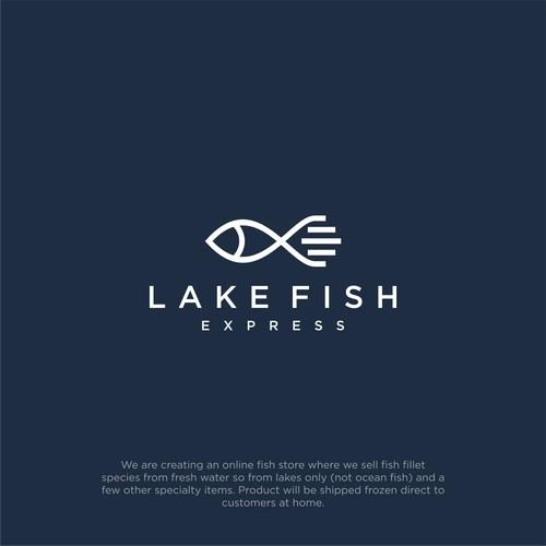 Lake fish express logo design