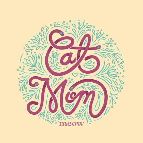 T-shirt design for cat moms