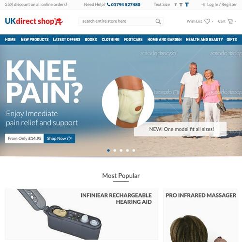 Light themed website for 60+ market