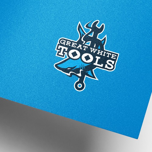 Great White tools logo concept