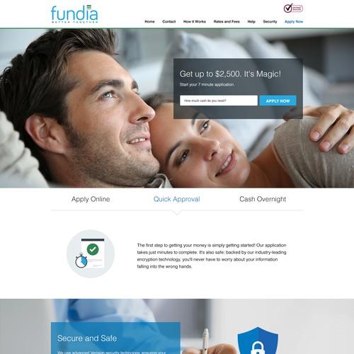 Fundia Landing page