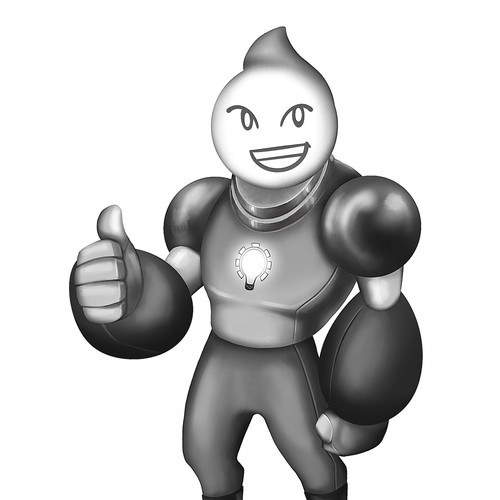 Mascot for LED lights and vehicles company