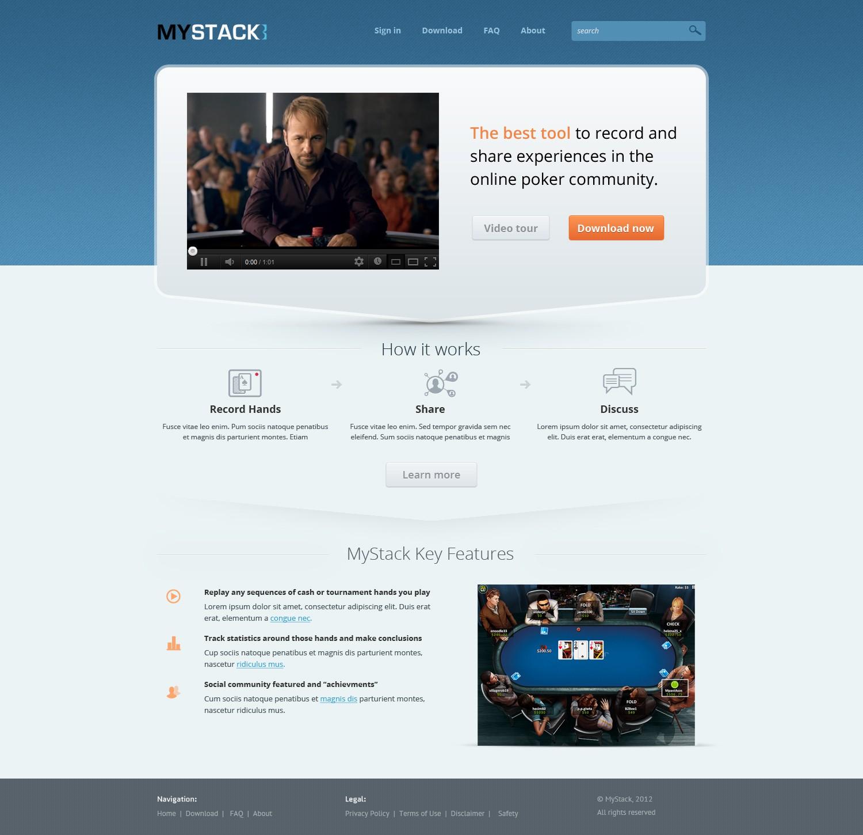 Website for an Online Poker Community