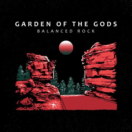 landscape design of garden of the gods