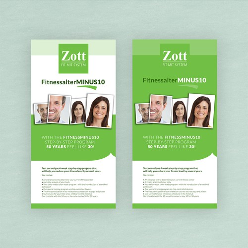 Roll up design for Zott Fitness