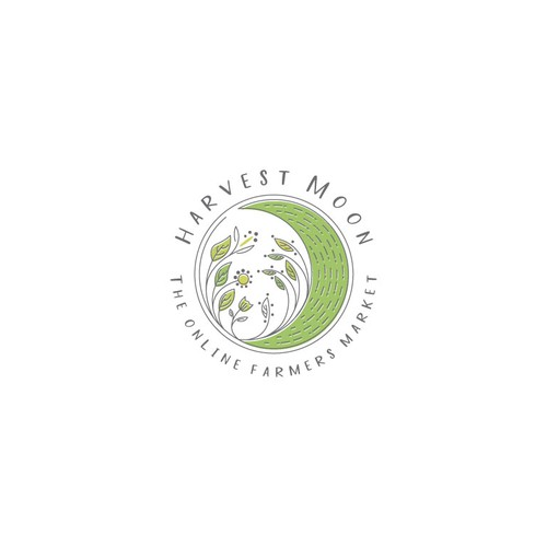 Elegant logo for Harvest Moon