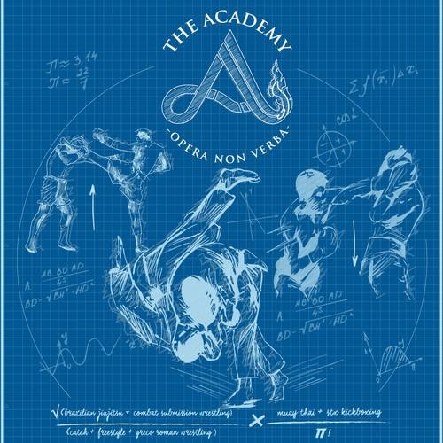 The Academy blue print T-shirt