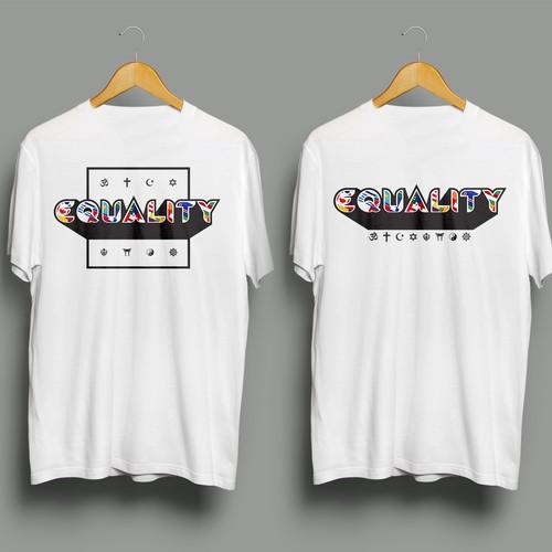 Equality Flag T Shirt Design
