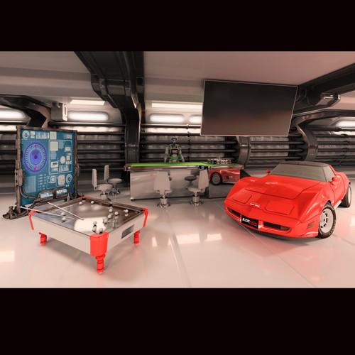 Sci fi interior design