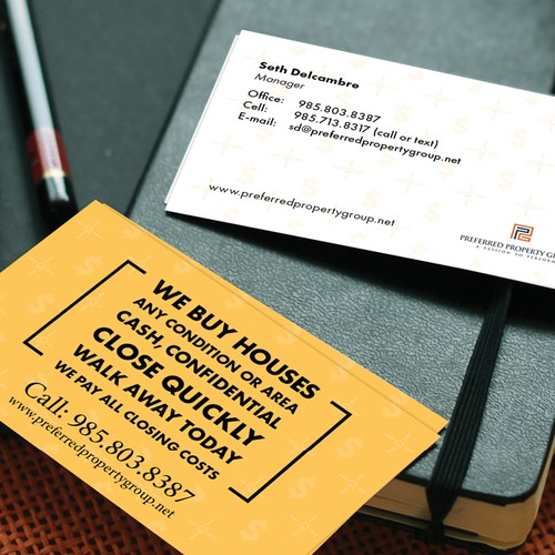 Business card size promo card