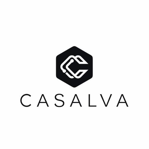 Elegant font and bold logo concept for CASALVA.