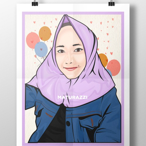 vector face hijabs