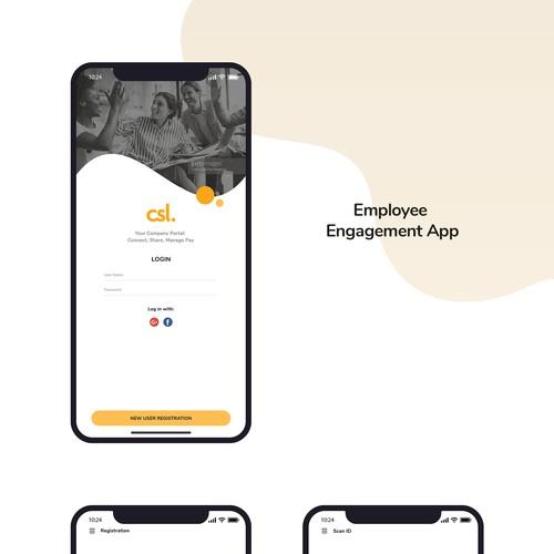 Company New, Social, Pay App Design