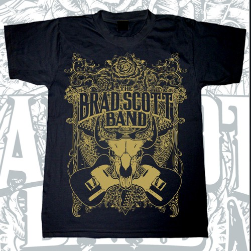 Create an eye catching T Shirt design for hot rockin' country band!!!