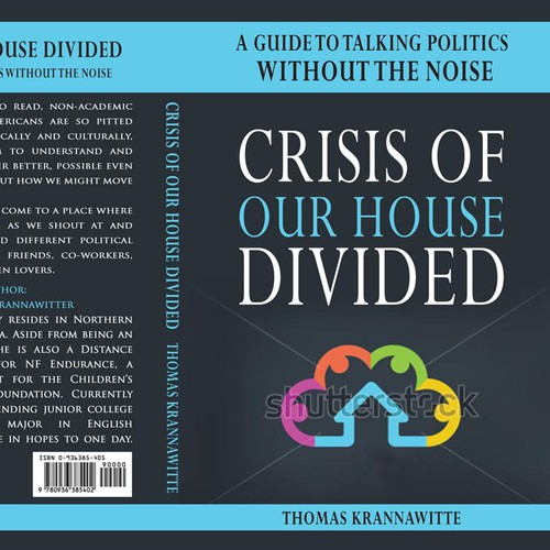Create a book cover to showcase an optimistic way of talking politics without the noise.