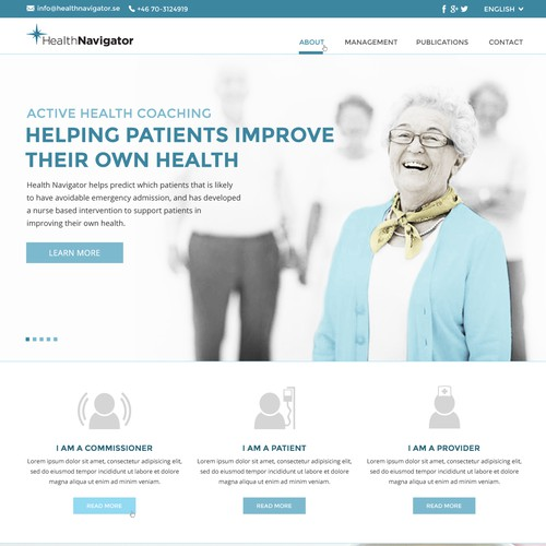 Create a landing page for an innovative health care company
