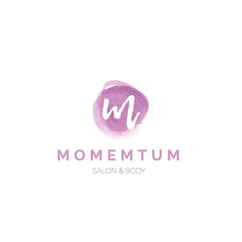 Simple, elegant logo for hair salon