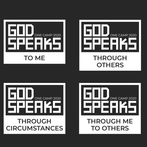 Group of logos for christian summer camp