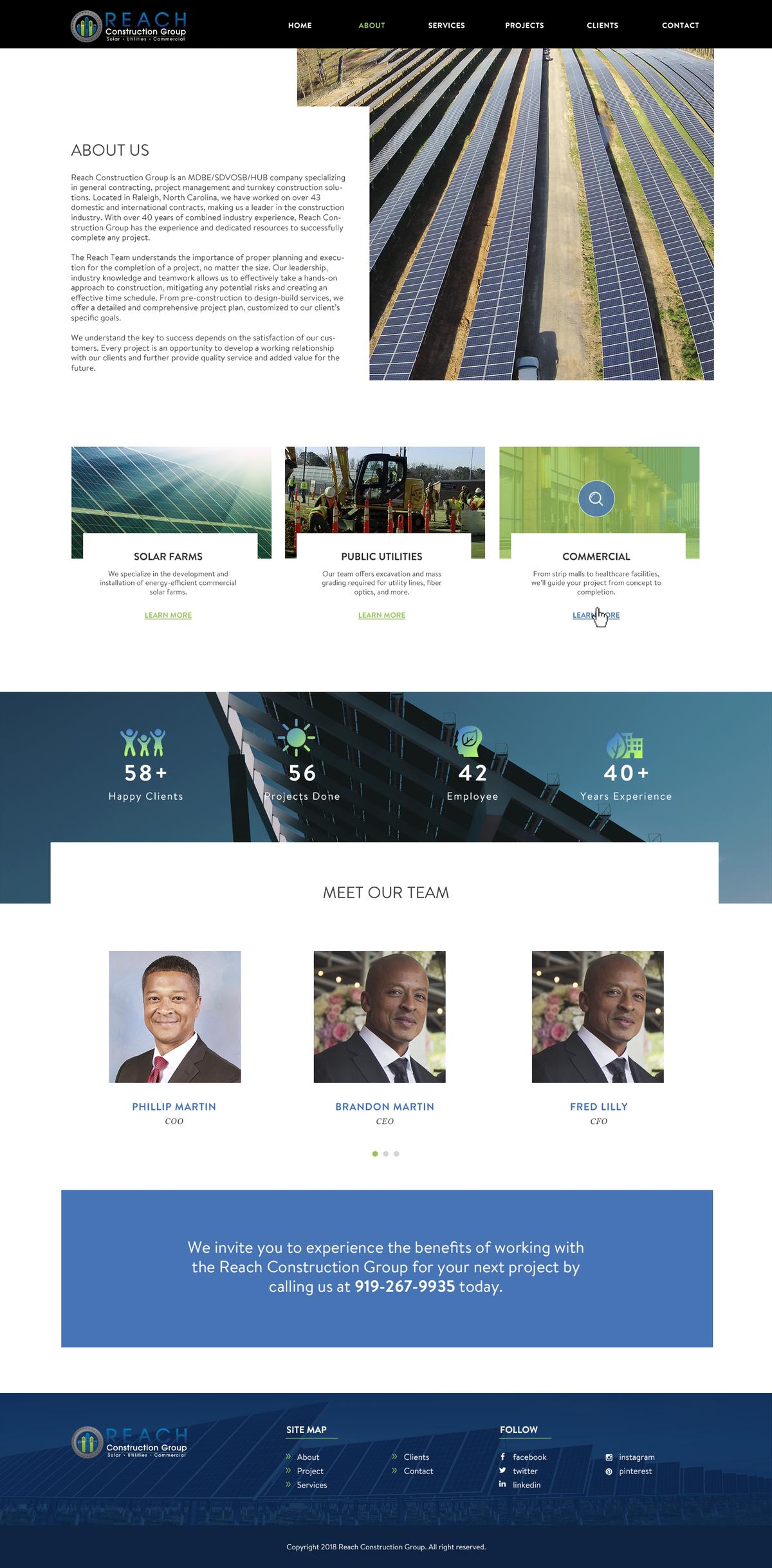 Reach Construction Website
