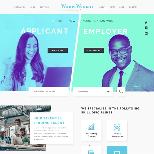 Staffing Agency Web Design