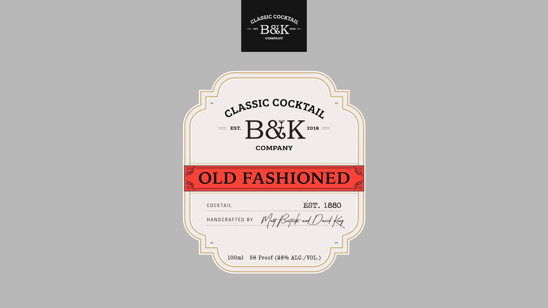 """Old Fashioned"" label"