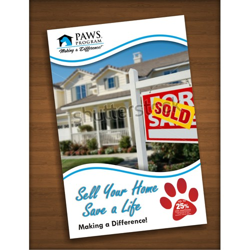 Create the next postcard or flyer for Paws Program
