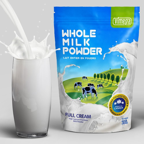 Packaging Design for Milk Powder Zip Bag