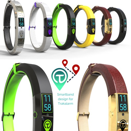 Smart band design with camera