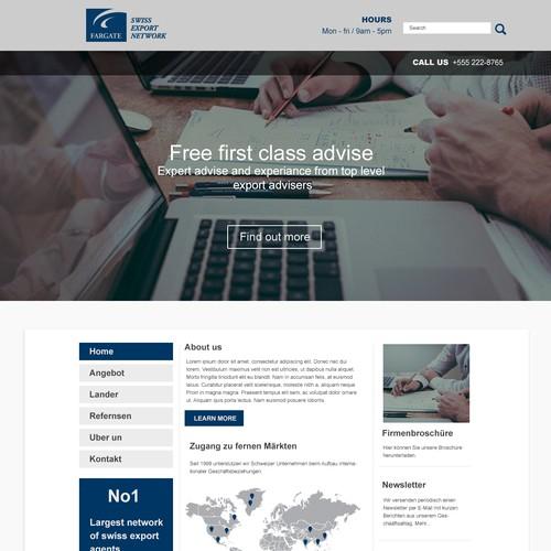 Export website design