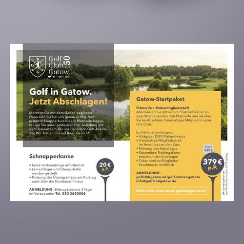 Anzeige für Golf-Club