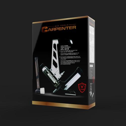 Carpenter Flooring Nailer Package design